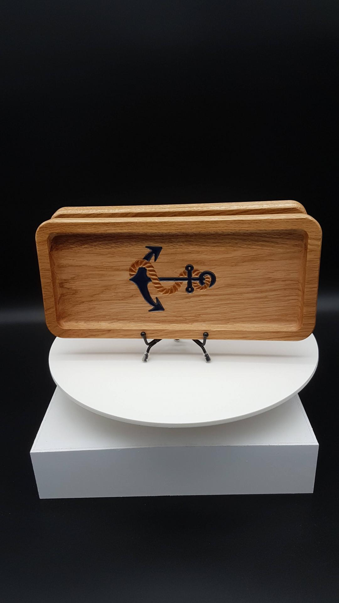 Plateau Anchor & Rope Chêne - Anchor and rope Oak Tray